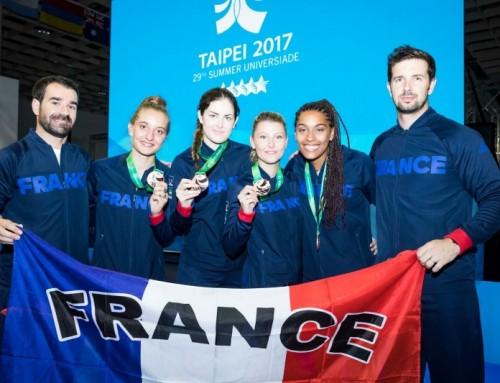 Julien Médard médaillé aux Universiades à Taipei