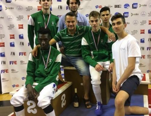 Championnats de France juniors à Besançon / La section vice championne de France