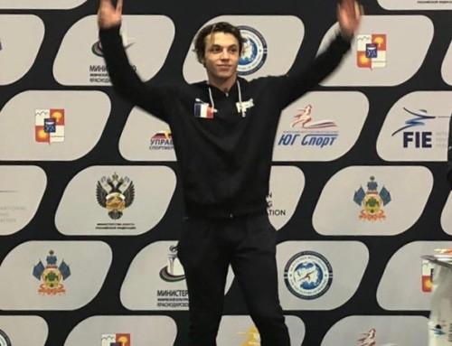 Eliott Bibi remporte la coupe du monde junior de sabre à Sotchi.